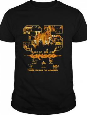 35 Years Of 1986 2021 Carcass Thank You For The Memories Signature shirt