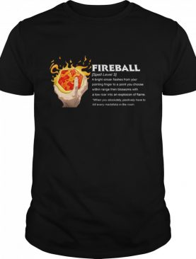 I Cast Fireball shirt