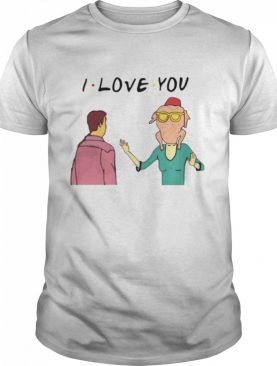 Monica geller with turkey and chandler bing I love you shirt