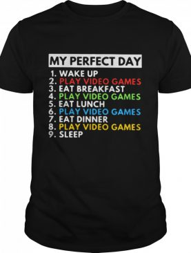 My Perfect Day Wake Up Play Video Games Eat Breakfast Play Video Games Eat Lunch shirt