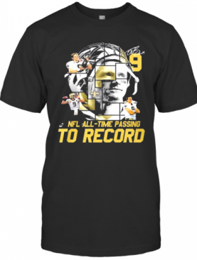 New Orleans Saints Nfl All Time Passing To Record Signature T-Shirt
