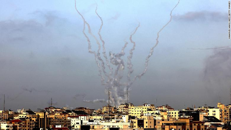 Israel launches airstrikes after rockets fired from Gaza in day of escalation